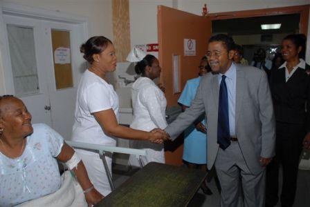 Minister Meets Patient